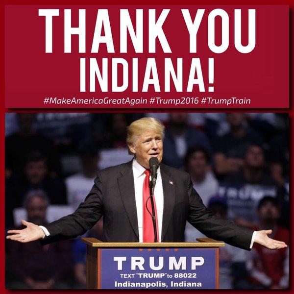 Trump Wins Indiana 2016